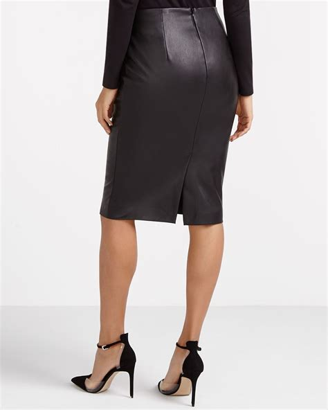 faux leather a line mini skirt lovely in leather meghan markle in leather