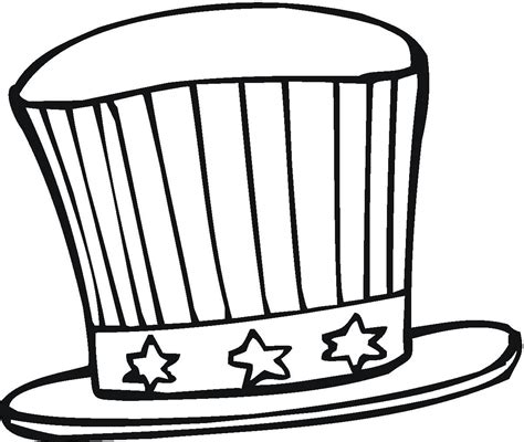 hat coloring pages    print