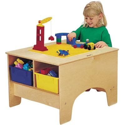 jonti craft duplo building table w 4 colored tubs 161 | 57459JC building table jonticraft