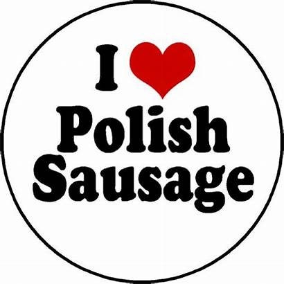 Sausage Polish Clipart Clip Heart Library Magnet