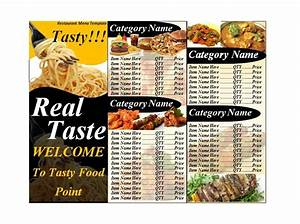 30 restaurant menu templates designs template lab With menu templates in html