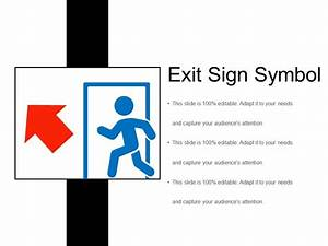 Exit Sign Symbol Ppt Diagrams