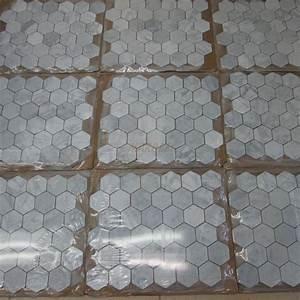 Carrara Marble Tile Italian White Carrera 2 inch Hexagon