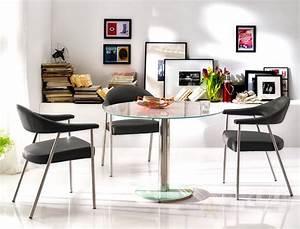 Glastisch Rund 100 Cm : glastisch rund faris 100x77 cm wei esstisch s ulentisch rundtisch wohnbereiche esszimmer esstische ~ Bigdaddyawards.com Haus und Dekorationen