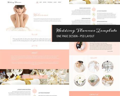 page design wedding planner website templates
