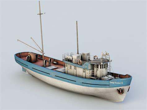 Fishing Boat Model by Sea Fishing Boat 3d Model Autodesk Fbx Files Free