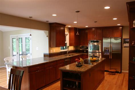 greenbrier addition kitchen remodel  northern virginia  dominion building group