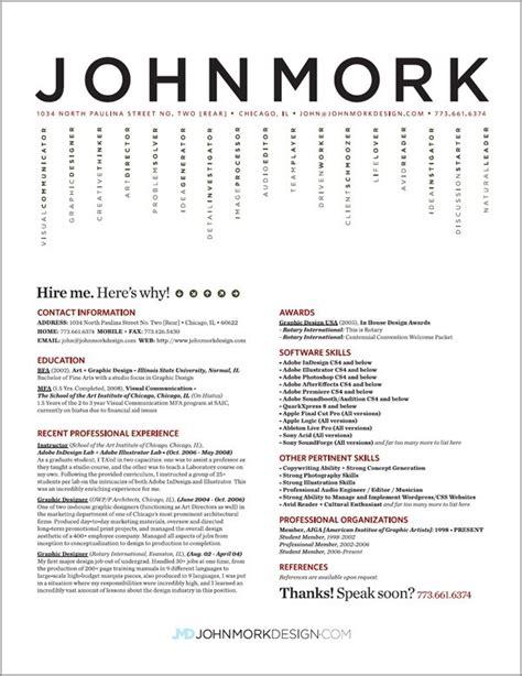 27 exles of impressive resume cv designs dzineblog