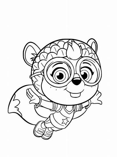 Wing Coloring Pages Shirley Squirrely Printable Fun