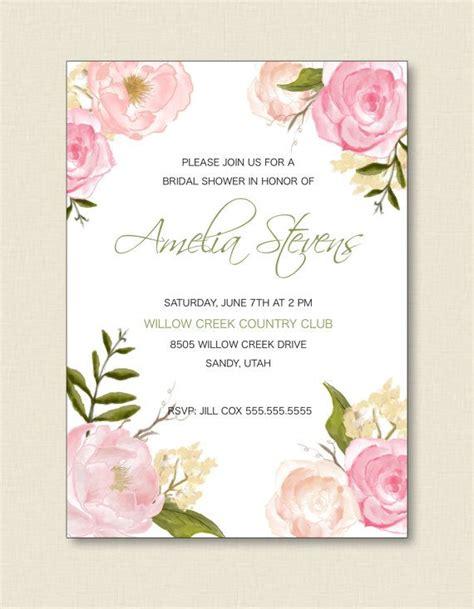 bridal luncheon invitation floral border by trdesignsbytuturevue tarjetas invitaciones de