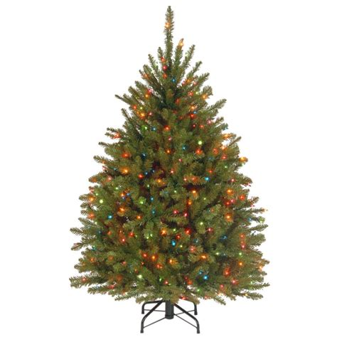 dunhill christmas tress home depot fir christimas trees national tree company 4 5 ft dunhill fir artificial tree with multicolor lights duh