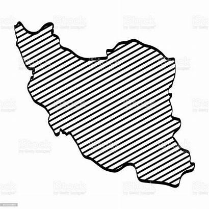 Iran Map Outline Vectorillustratie Grafisch Kaart Overzicht