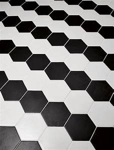 Carrelage Hexagonal Blanc : carrelage hexagonal 17 5x20 tomette design noir mat as ~ Premium-room.com Idées de Décoration