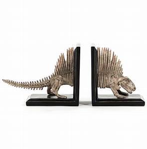 Fossil Skeleton Replica Dimetrodon Dinosaur Bookends