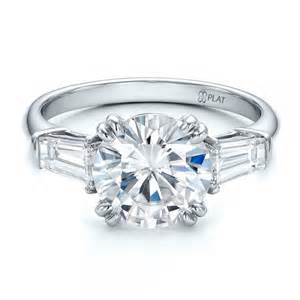 engagement rings 3 diamonds custom three engagement ring 100161 bellevue seattle joseph jewelry