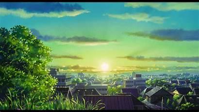 Scenery Anime Sunset Background Wallpapers Wallpapersafari