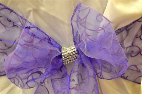 purple chair sash with bling i made aimee s 15ths decorations chairs