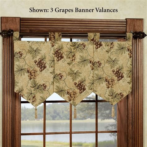 Tuscany Grape Kitchen Curtains by Kitchen Curtain Grapes Decorate The House With Beautiful