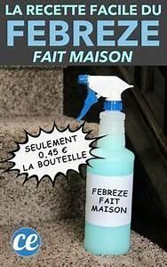 Lessive Qui Sent Bon : la recette du febreze 0 45 la bouteille pour une maison ~ Melissatoandfro.com Idées de Décoration