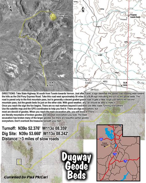 dugway geode beds dugway utah map images