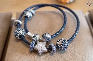 pandora armband leder blau