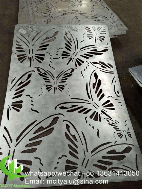aluminum metal decorative panel sheet metal laser cutting