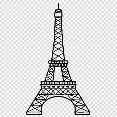 Tower Eiffel Transparent Clipart Drawing Line