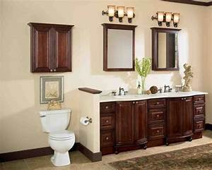 Cherry Wood Bathroom Cabinets Home Furniture Design
