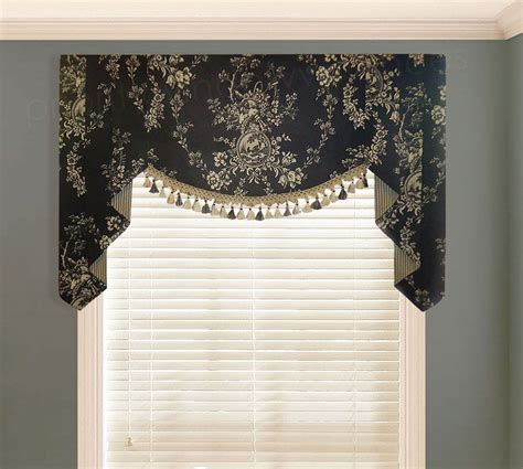 Black And Valance by Waverly Country House Toile Black Valance Valances Pwv