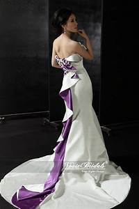 141 best purple wedding dress images on pinterest for Royal purple and white wedding dress