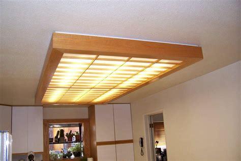 kitchen fluorescent light fixture wooden fluorescent light fixture light fixtures design ideas 4877