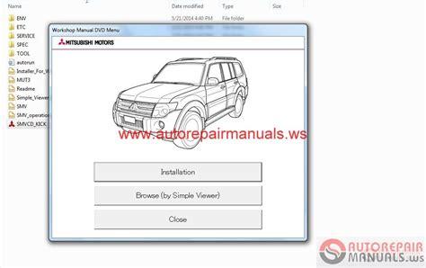 mitsubishi pajero 2015 service manual auto repair