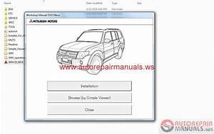 Mitsubishi Pajero 2015 Service Manual Cd