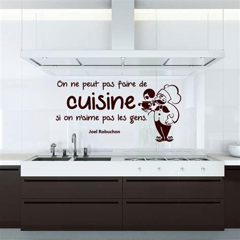 la cuisine de joel robuchon sticker citation on ne peut pas faire de cuisine joel