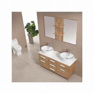 Meuble Salle De Bain Bois Naturel : meuble salle de bain de luxe coloris bois naturel ref sd911bn ~ Teatrodelosmanantiales.com Idées de Décoration