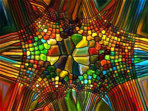 illusion  stained glass wall mural pixers