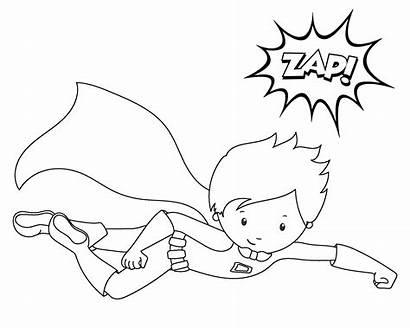 Superhero Coloring Printable Sheets Flying Power