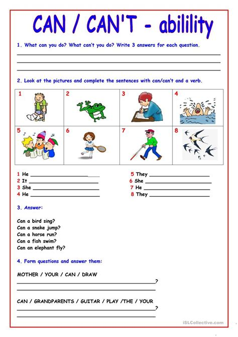 can can t worksheet free esl printable worksheets made by teachers