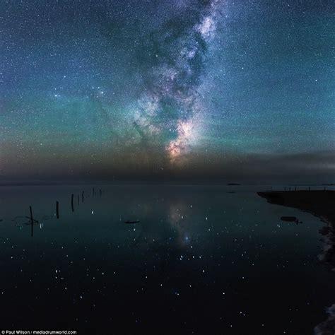 Milky Way Stunning Aurora Australis Light New