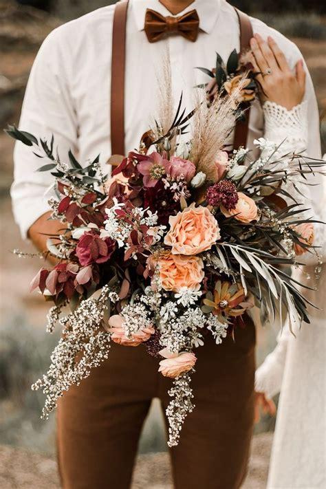 Fall Desert Elopement Inspiration Wedding Bouquets Fall
