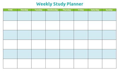 study schedule template   templates schedule
