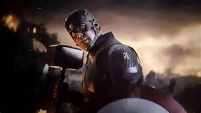 Endgame Captain Avengers America Mjolnir Hammer Battle