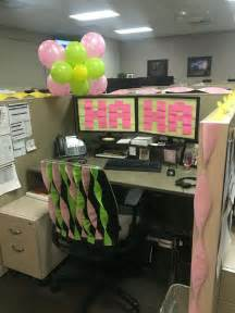work decoration birthday cubicle balloon sticky note post it pinteres