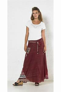Long ethnic skirt made of cotton outer lining