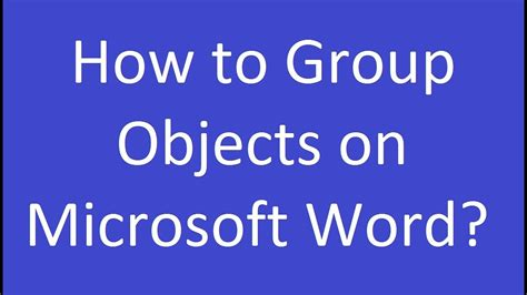 word objects microsoft