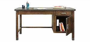 Bureau Bois Metal : bureau en bois vieilli achetez nos bureaux en bois vielli rdv d co ~ Teatrodelosmanantiales.com Idées de Décoration