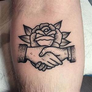 katievidan | Shaking hands combined with a rose via ...
