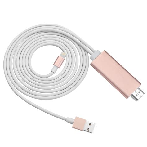 iphone av cable 2m 8 pin apple lightning to hdmi av cable adapter hdtv for