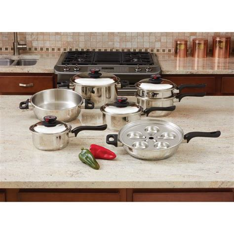 ply steam control pc  stainless steel cookware set ktultra