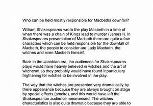 why is macbeth responsible for his own downfall